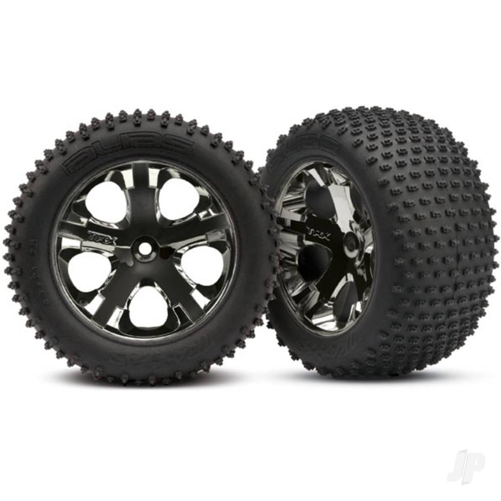 Tires & wheels, assembled, glued (2.8in) (All-Star black chrome wheels, Alias tires, foam inserts) (rear) (2pcs) (TSM rated)