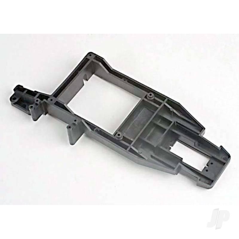 Chassis backbone, plastic / throttle servo mount