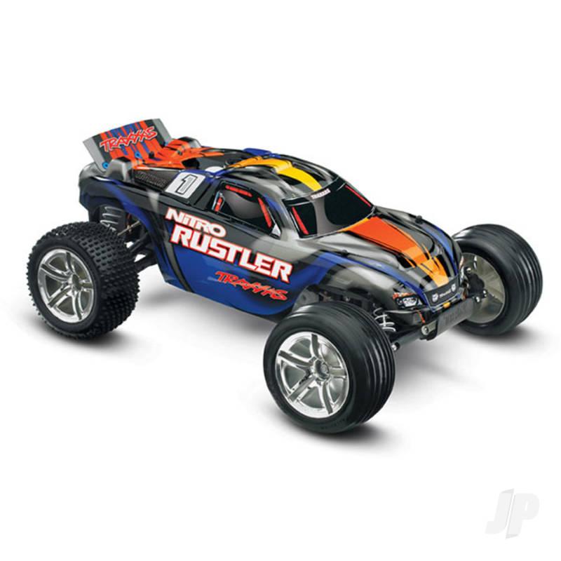 Blue Nitro Rustler 1:10 Nitro 2WD Stadium Truck (+ TQi, TSM)