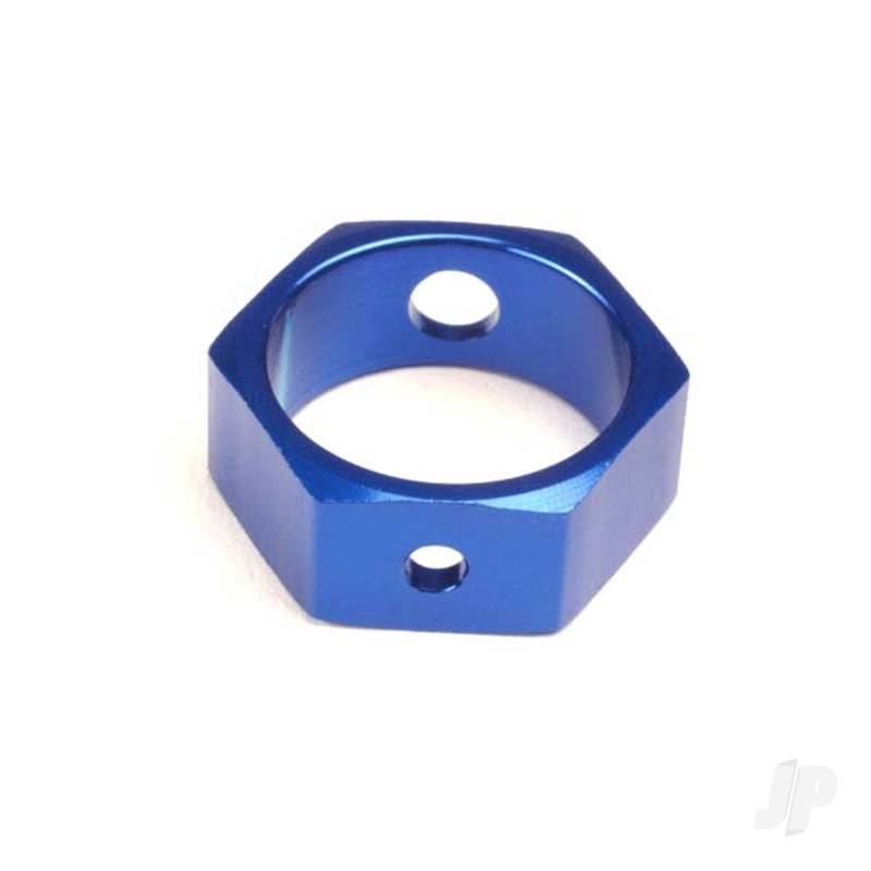 Brake adapter, hex aluminium (Blue) (use with HD shafts)