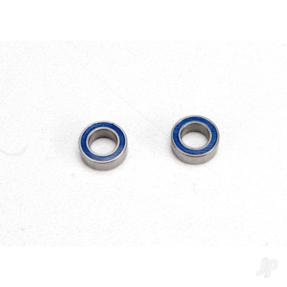 Ball bearings, Blue rubber sealed (4x7x2.5mm) (2 pcs)