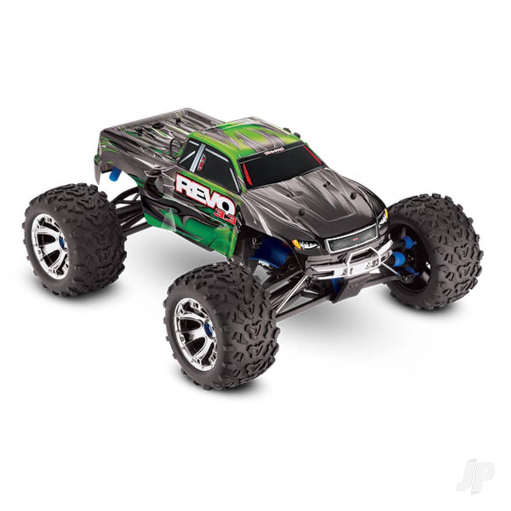 Green Revo 3.3 1:10 4X4 Nitro Monster Truck (+ TQi, TSM, Wireless Module, Telemetry, TRX3.3, DC Charger)