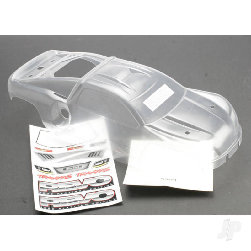 Body, Revo (Platinum Edition) (clear, requires painting) / decal sheet