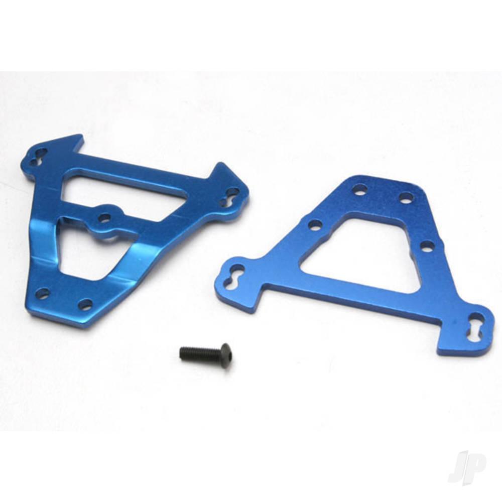 Bulkhead tie bars, front & rear (blue-anodized aluminium)