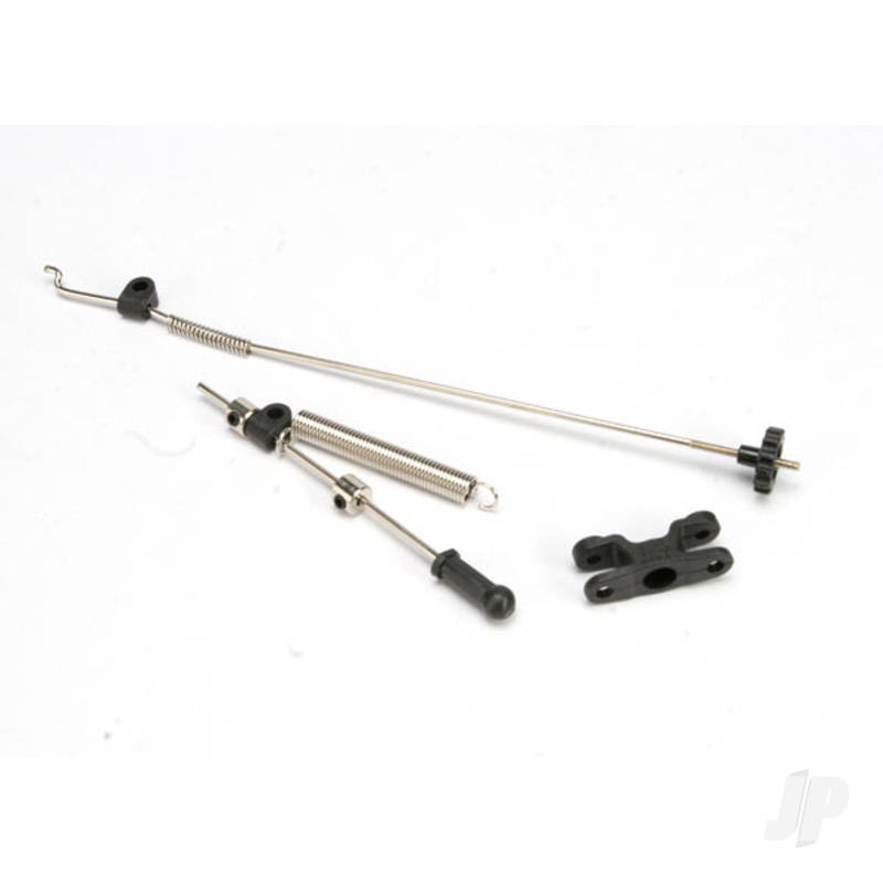 Linkage set, throttle & brake (Jato) (includes servo horn, rod guides, brake spring, brake adjustment dial, rods (wires), throttle return spring, hardware)