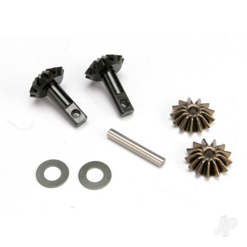 Gear set, Differential (output gears (2pcs) / spider gears (2pcs) / spider gear shaft)