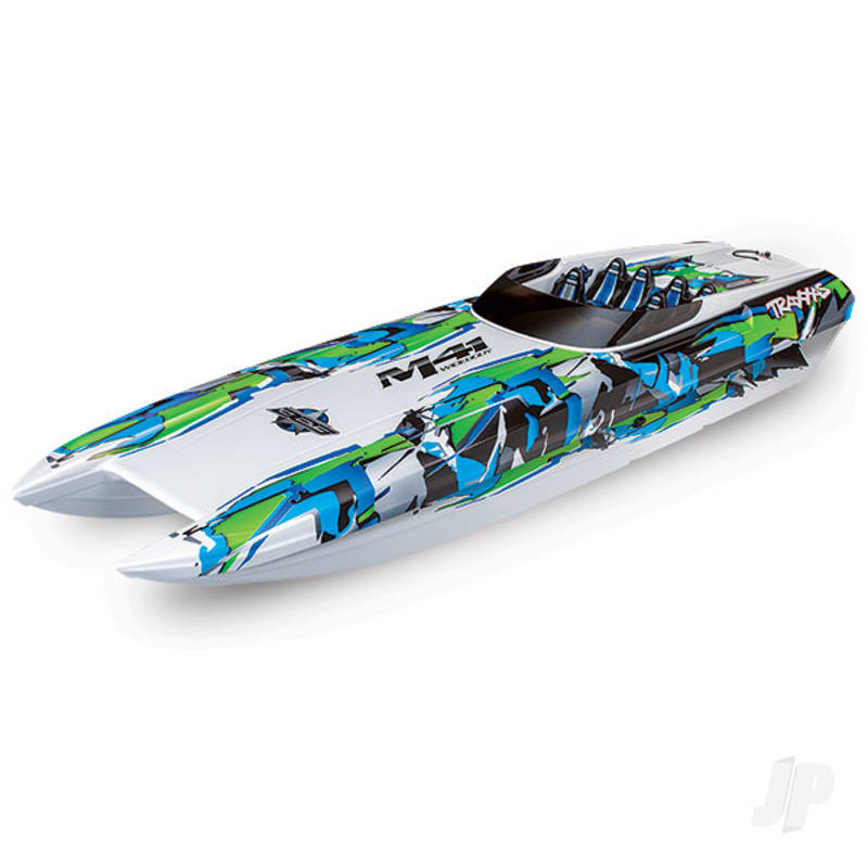 Green DCB M41 Widebody Brushless 40in RTR Race Boat (+ TQi, CC 540XL, Marine VXL-6s, TSM, factory-applied graphics)