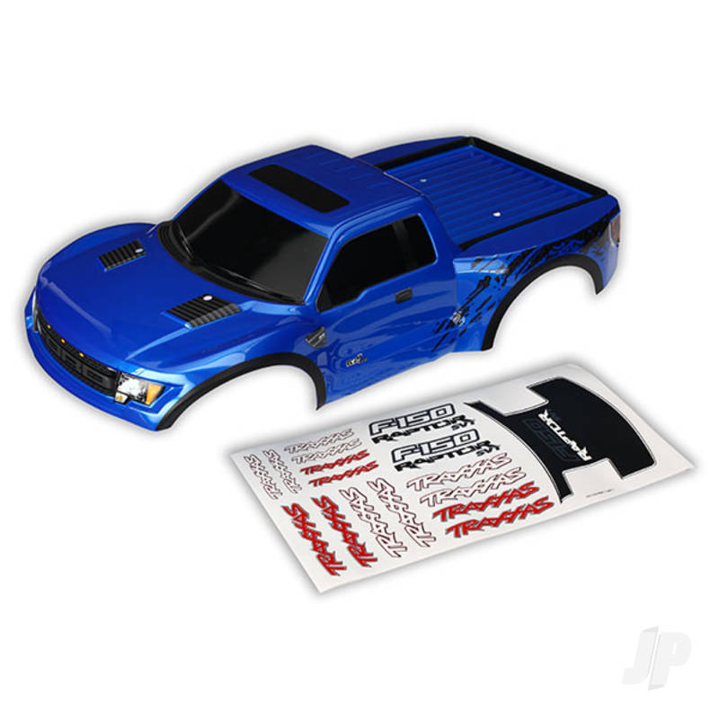 Body, Ford Raptor, blue (first generation) (painted, decals applied)