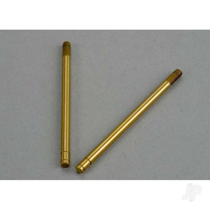 Shock shafts, hardened steel, titanium nitride coated (rear) (2pcs)