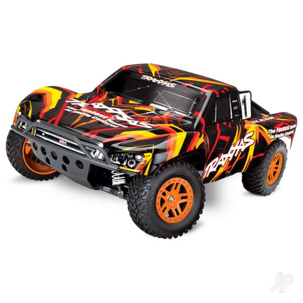 Orange/Red Slash 4X4 1:10 4X4 Electric Short Course Truck (+ TQ, XL-5, Titan 550, 7-Cell NiMH, DC Charger)