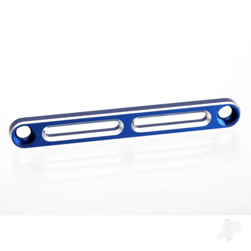 Tie bar, front, aluminium (blue-anodized)