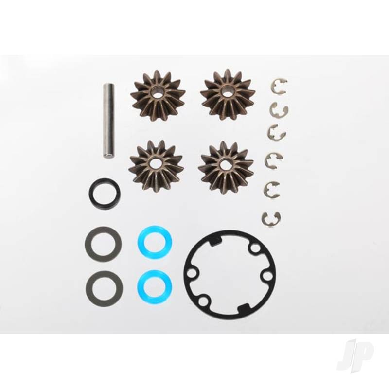 Gear set, Differential (output gears (2pcs) / spider gears (2pcs) / spider gear shaft) / output gear seals (x-ring) (2pcs) / diff gasket (1pc) / hardware
