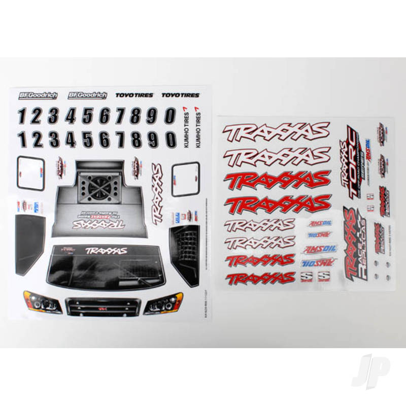 Decal sheets, 1:16 Slash 4WD team truck