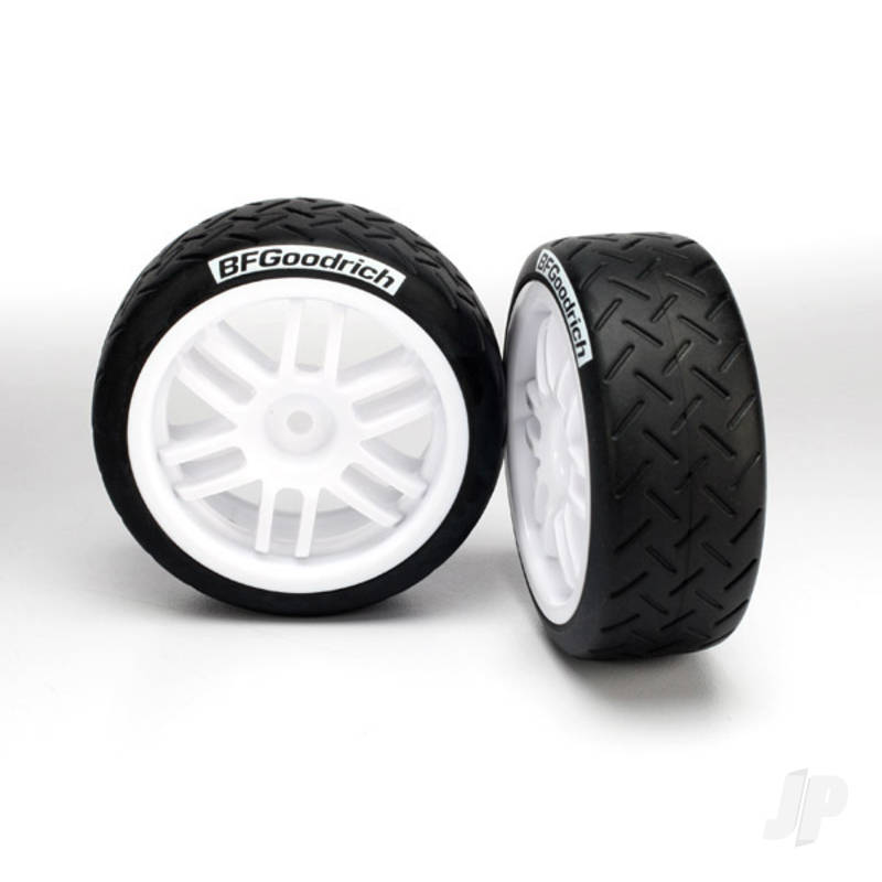 Tyres & Wheels, assembled, glued (Rally wheels, BFGoodrich Rally Tyres) (2pcs)