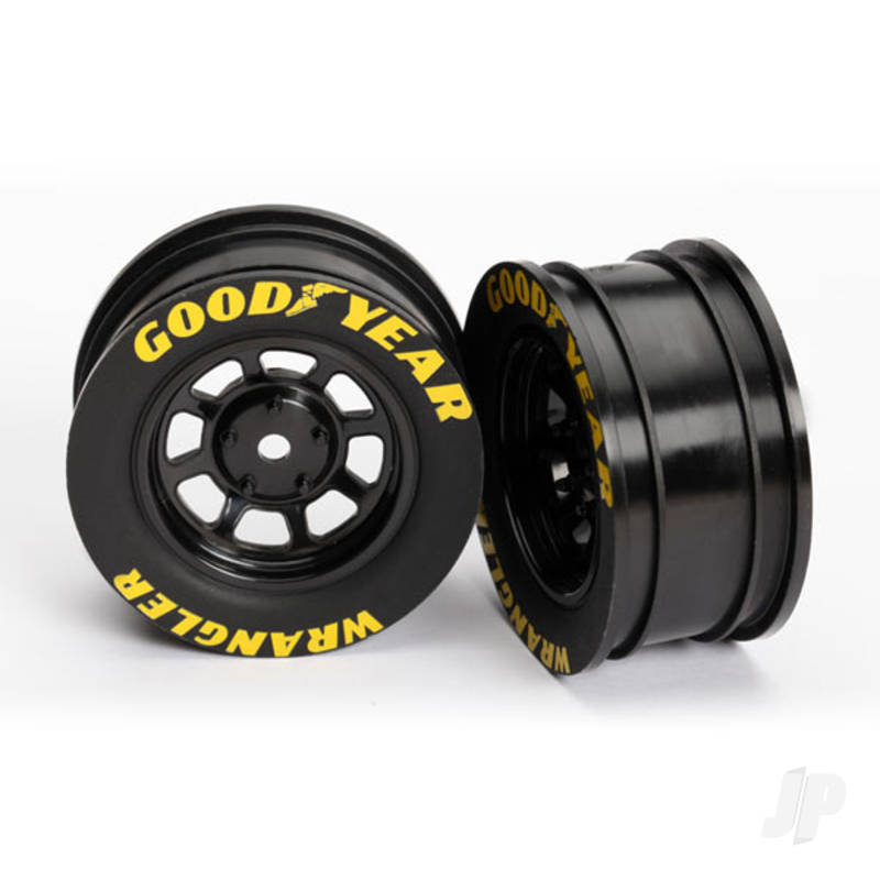 Wheels, 8-spoke (black) (2pcs)