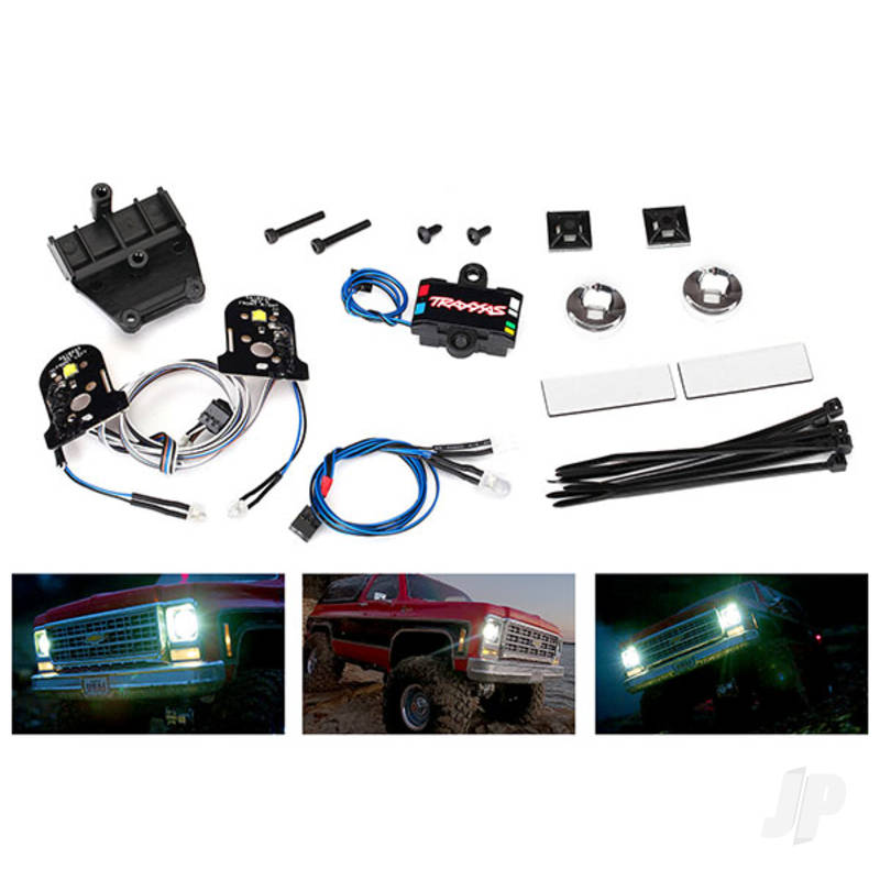 LED light set (contains headlights, tail lights, side marker lights, distribution block (fits #8130 body, requires #8028 power supply)