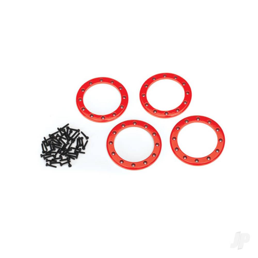 Beadlock rings, red (2.2in) (Aluminium) (4pcs) / 2x10 CS (48)