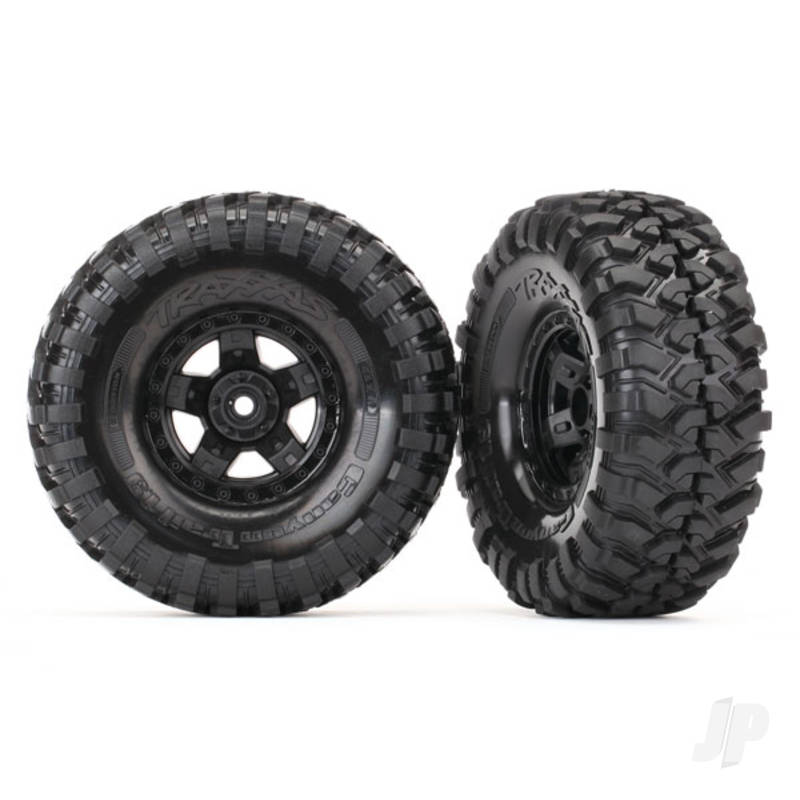 Tyres and wheels, assembled, glued (TRX-4 Sport wheels, Canyon Trail 1.9 Tyres) (2pcs)