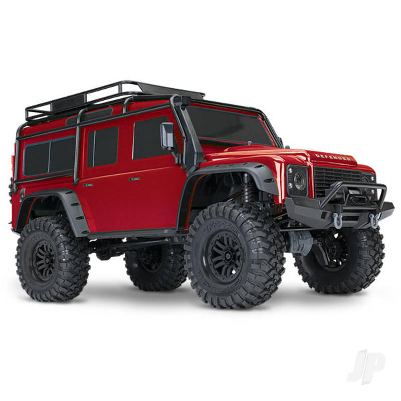 Red TRX-4 Land Rover Defender 1:10 4WD Electric Scale and Trail Crawler RTD (+ TQi , XL-5 HV, Titan 550)