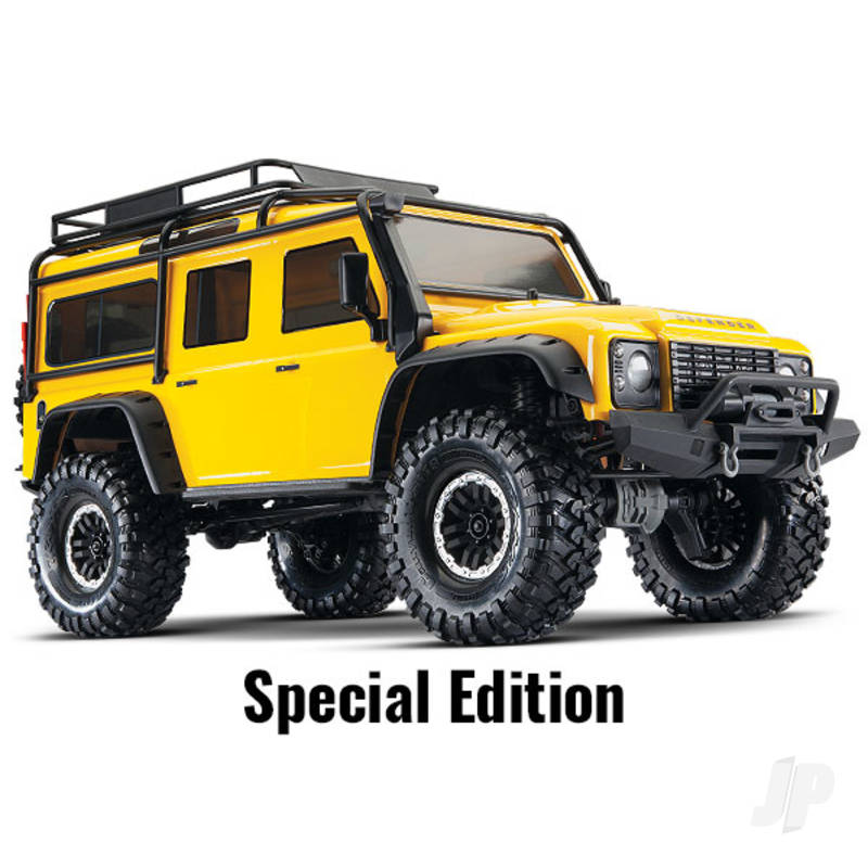 Yellow TRX-4 Land Rover Defender 1:10 4WD Electric Scale and Trail Crawler RTD (+ TQi , XL-5 HV, Titan 550)