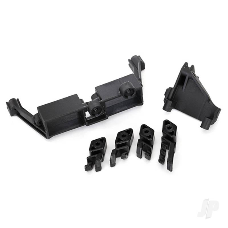 Servo mount, 2-speed / servo mount, T-Lock / wire clips