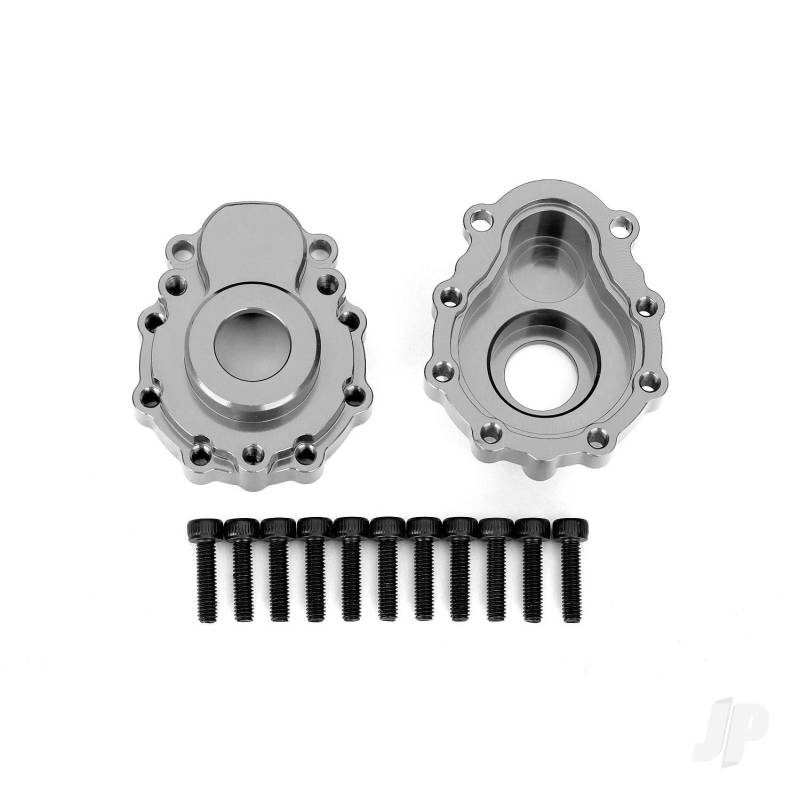 Outer portal housings (Anodized charcoal-grey)