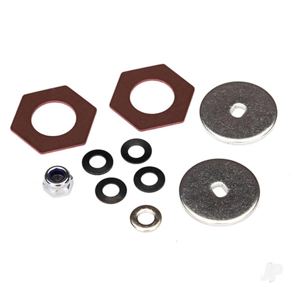 Rebuild kit, slipper clutch (steel disc (2pcs) / friction insert (2pcs) / 4.0mm NL (1pc) / spring washers (4pcs), metal washer (1pc))