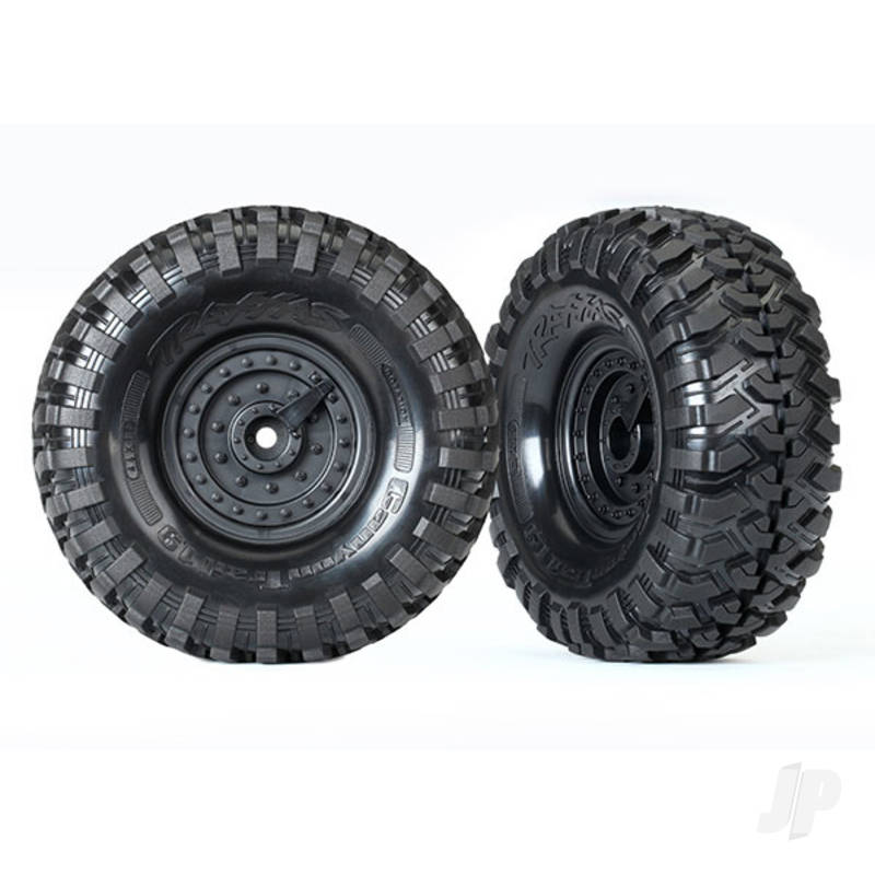 Tires and wheels, assembled, glued (Tactical wheels, Canyon Trail 1.9 tires) (2pcs)