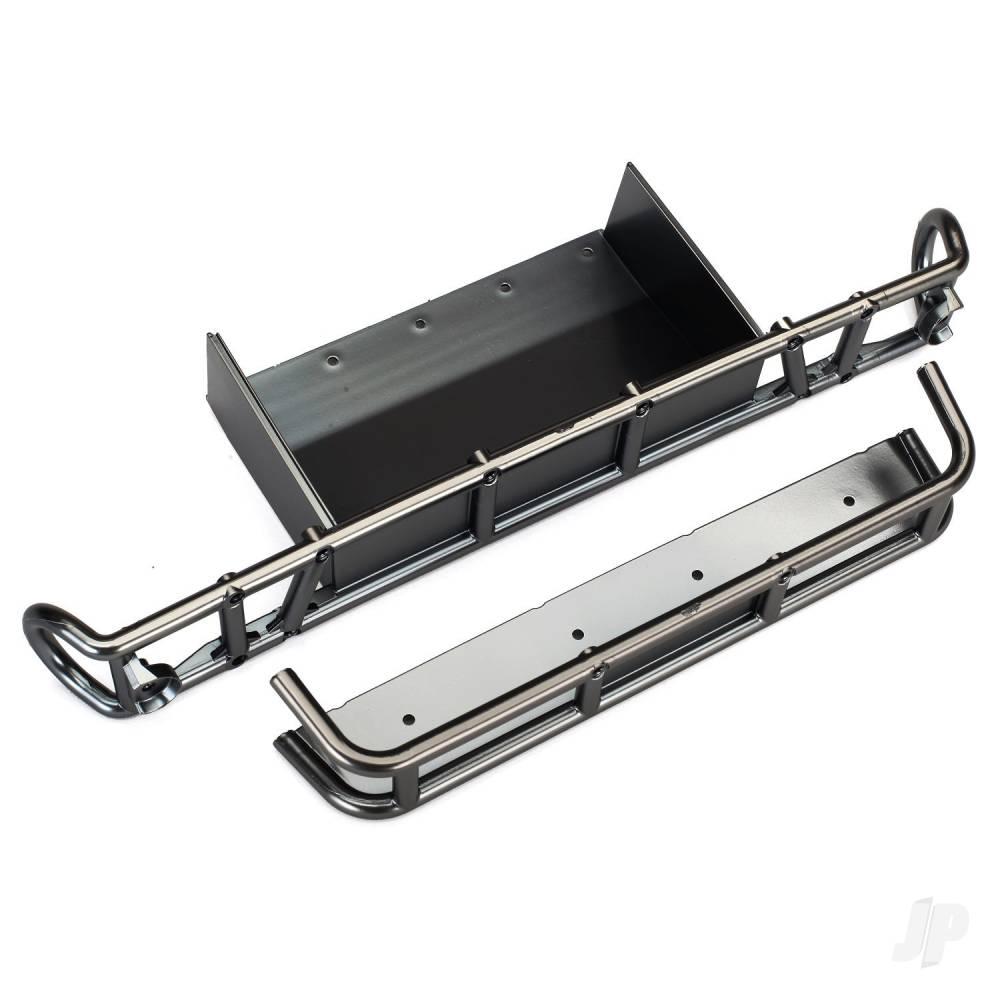Bumper, Rear / bumper extension (satin black chrome-plated)
