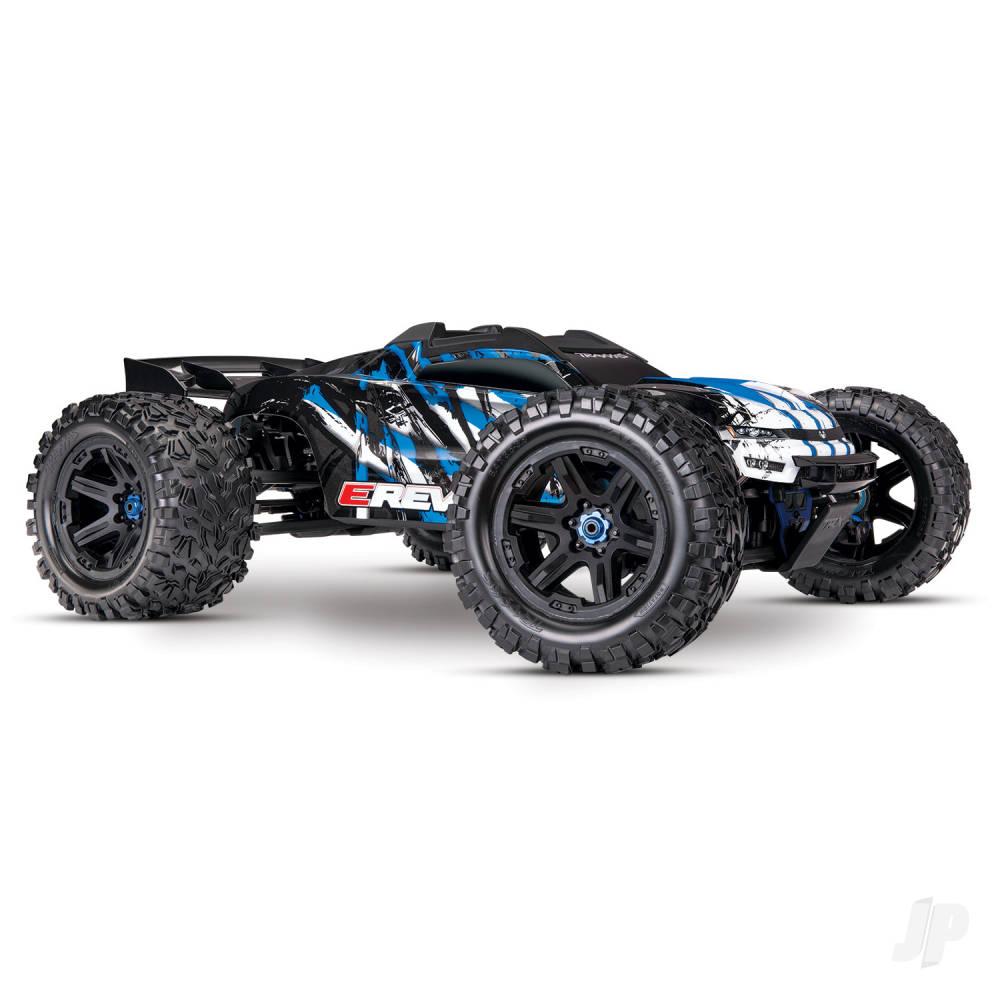 Blue E-Revo VXL Brushless 1:10 4WD Brushless Electric Monster Truck (+ TQi, VXL-6s, TSM)