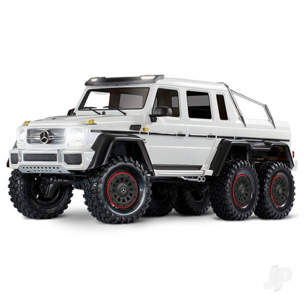 Metallic White TRX-6 Mercedes-Benz G 63 AMG 1:10 6X6 Electric Trail Truck RTD (+ TQi , XL-5 HV, Titan 550)