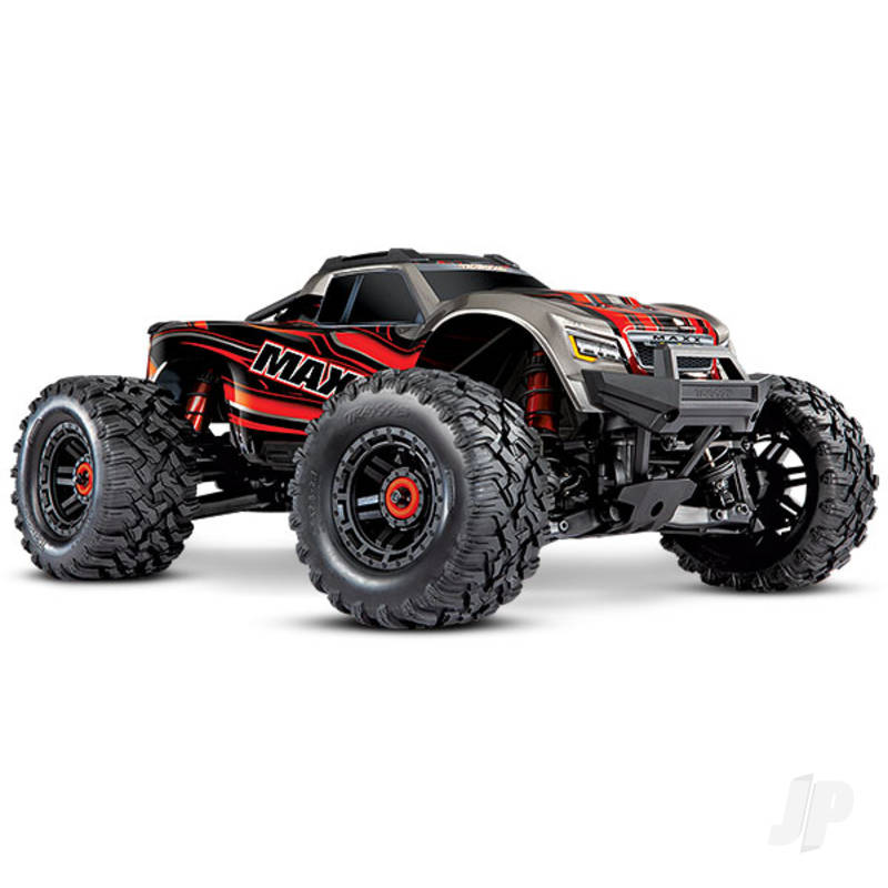 Red Maxx 1:10 4WD Brushless Electric Monster Truck. Fully assembled, RTR, (+ TQi, TSM, VXL-4s, ProGraphix)