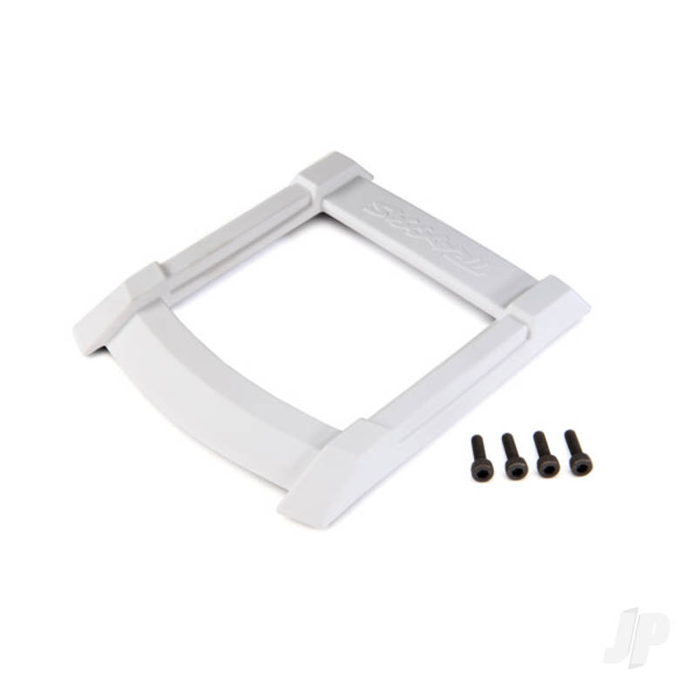 Skid plate, roof (body) (white) / 3x12mm CS (4pcs)