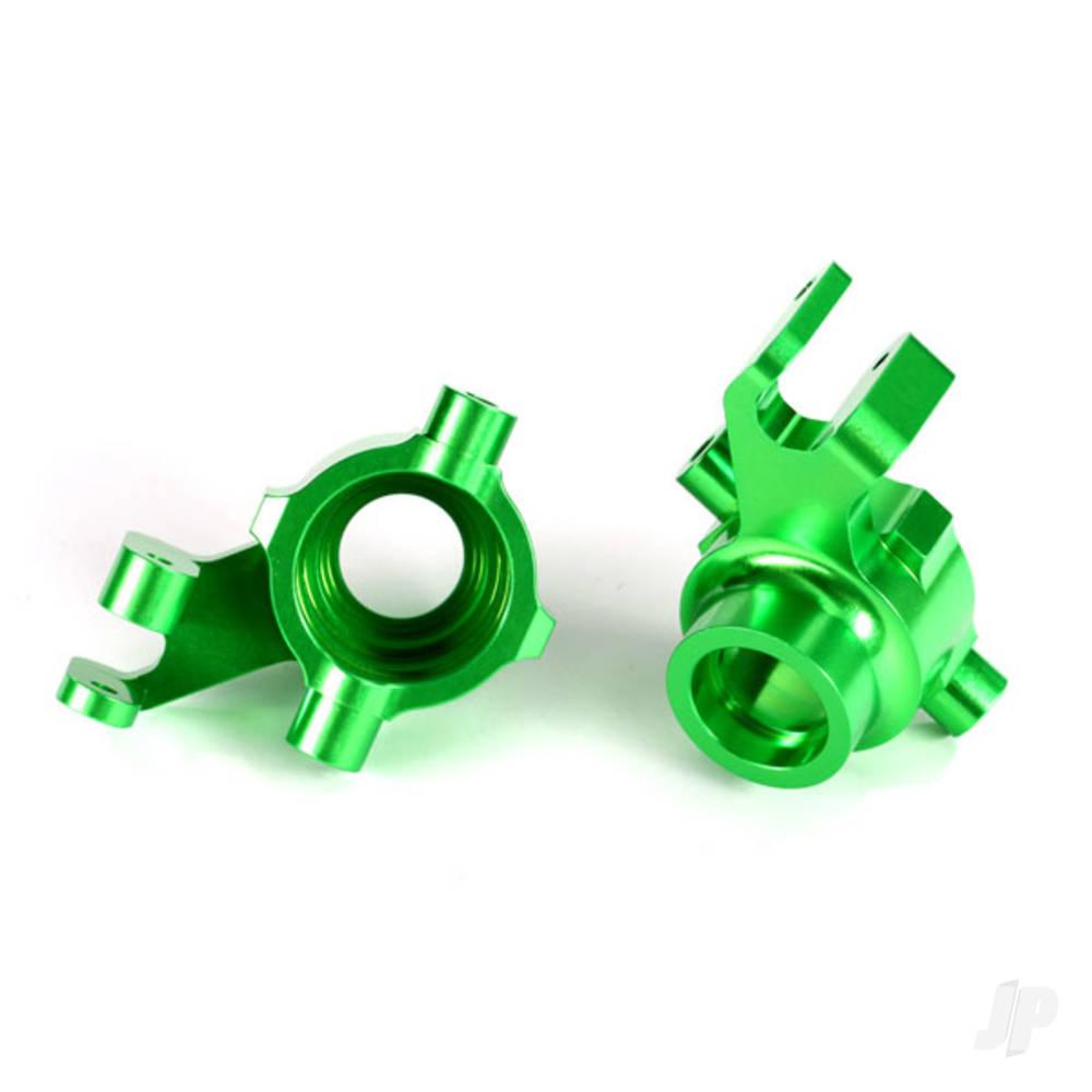 Steering blocks, 6061-T6 aluminium (green-anodized), left & right