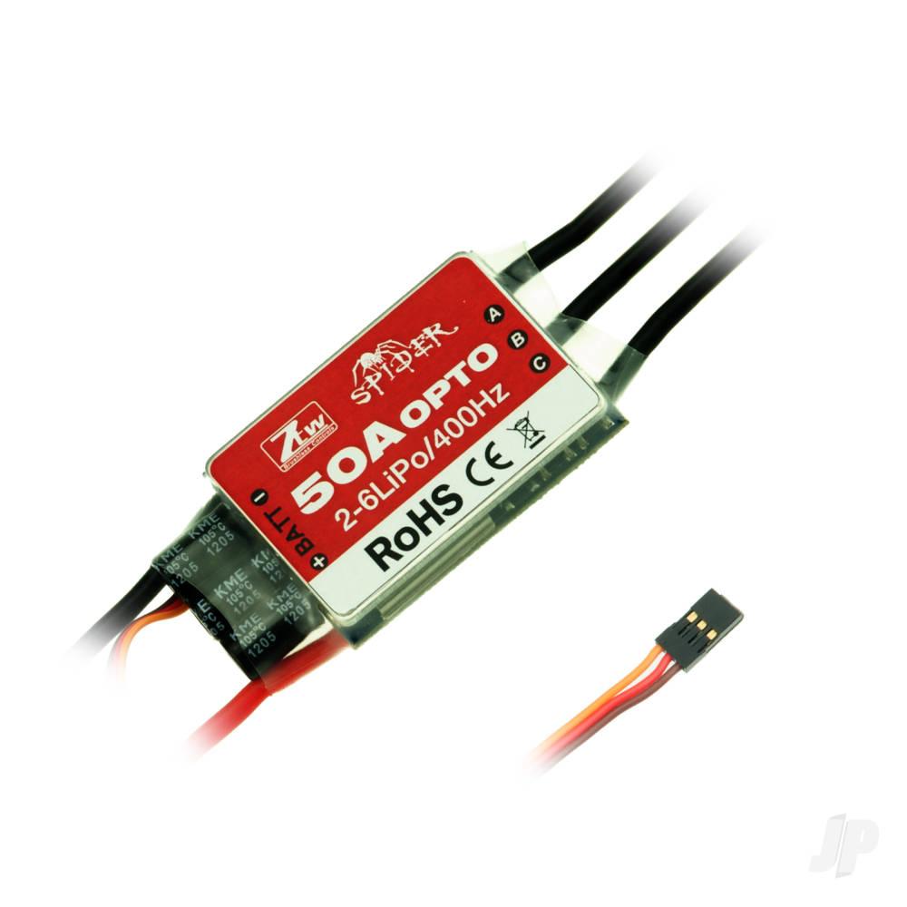 Spider 50A Opto 12V ESC (2-6 Cells)